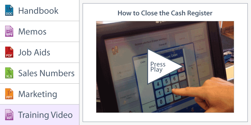 Jolt How to close the cash register job aid