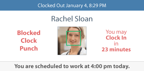 Jolt Time clock integration with schedule